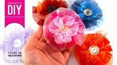 fiore con la a decorazione fai da te tutorial fiori in velo di fata con