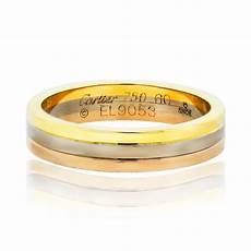 cartier tri color mens wedding band ring boca raton