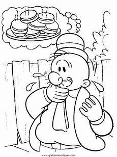 Gratis Malvorlagen Popeye Popeye 13 Gratis Malvorlage In Comic Trickfilmfiguren