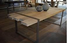 Mod Le Table A Manger Industrielle Acier Et Bois Tables