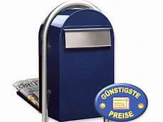 briefkasten großes volumen cenator 174 gro 223 raumbriefkasten blau freistehend cenator bf 502