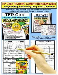 following directions comprehension worksheets 11654 reading comprehension iep skill builder following visual directions worksheets