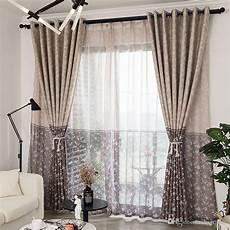 déco rideaux salon design 2019 modern floral printed blackout curtains for living