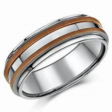 7mm titanium 9ct rose gold wedding ring band titanium rings at elma uk jewellery