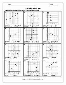 scatter plots and line of best fit worksheet 2 by algebra