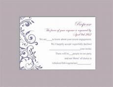 rsvp card template diy wedding rsvp template editable word file instant