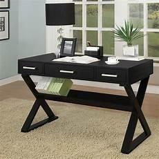 home office furniture black sleek black home office desk by coaster furniture