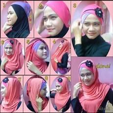 Cara Memakai Jilbab Pashmina Dengan Headband Tutorial