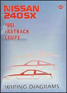 1991 Nissan 240sx Wiring Diagram Manual Original