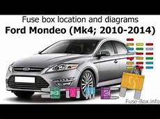 fuse box location and diagrams ford mondeo mk4 2010