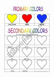 secondary colors worksheets 12813 primary and secondary colors esl worksheet by cinni