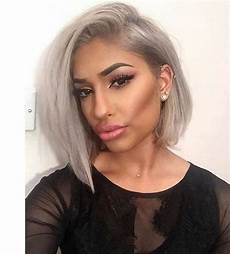 colored bob hairstyles grey bob haircut hair color trends 2016 frisuren