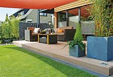 Terrasse Garten Landschaft Aussenbereich Bauen