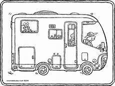 Malvorlagen Wohnmobil Ausmalbilder Transport Colouring Pages Kiddimalseite