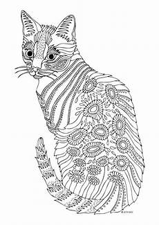 cat coloring pages for adults at getcolorings free