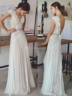 Discount Vintage Lace Beaded Wedding Dresses 2017 Simple A
