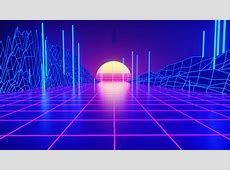 Retrowave Tron Grid, HD Artist, 4k Wallpapers, Images
