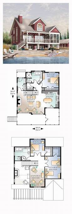 small lakefront house plans lakefront house plan chp 32672 house plans lakefront
