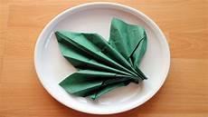 servietten falten herbstblatt herbstdekoration z b f 252 r