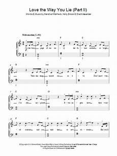 love the way you lie part ii sheet music direct