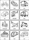Transport Vocabulary For Kids Learning English  Printable