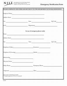 free 14 employee emergency notification forms pdf