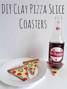 Clay Pizza Slice Coasters diy clay pizza slice coasters