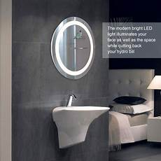 round led wall mounted bathroom mirror with dimmable touch dimmer makeup vanity mirror with