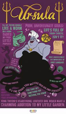 ursula and ariel writing poor unfortunate words ursula quotable infographic