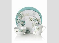 Mikasa Dinnerware, Teal Silk Floral Collection   Casual