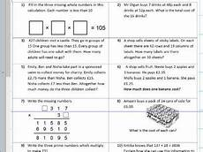four operations mixed multiplication division subtraction addition ks2 year 5 6 worksheet