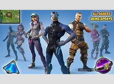 ALL *NEW* SEASON 4 SKINS, DANCES, DUSTY DEPOT *DESTROYED