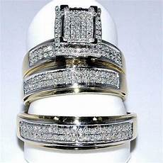 his and hers diamond wedding ring sets ebay