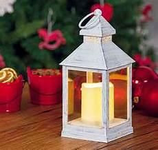 lanterne a candela lanterna bianco antico con candela led effetto fiamma a