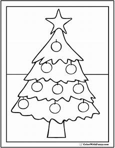 25 tree coloring pages in the snow