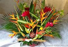 bouquet de fleurs exotiques composition fleurs exotiques atelier amborella corinne