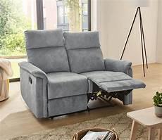 sofa in velour grau relaxfunktion 2 sitzer kaufen bei