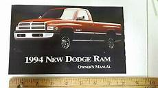 auto repair manual online 1994 dodge ram 1500 electronic toll collection 1994 dodge ram pickup original owners manual excellent condition us ebay