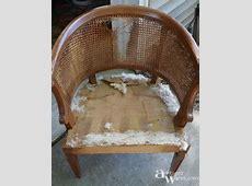 Refurbished Cane Back Barrel Chair   Ambient Wares