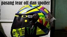 Modif Helm Yamaha by Pasang Spoiler Di Helm Dan Tear 13