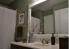 Framed Bathroom Mirror Ideas Dwelling Cents Bathroom Mirror Frame