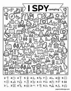 free printable i spy cing kids activity paper trail design