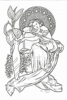 detailed nouveau coloring pages images