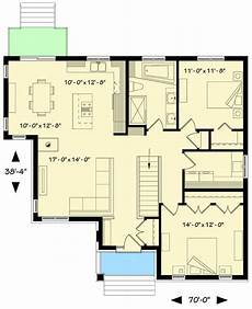 open concept bungalow house plans canada plan 22414dr 2 bed bungalow with open floor plan in 2020