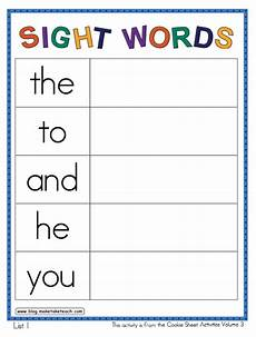 building sight words worksheets 21020 cookie sheet activities vol 3 make take teach