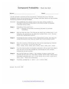 probability compound events worksheets 5766 compound probability worksheets probability worksheets