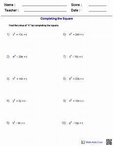 algebra quadratics worksheets 8545 completing the square quadratic worksheets quadratics algebra quadratic functions