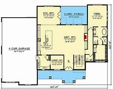 open floor house plans with walkout basement open concept 5 bed craftsman home plan on a finished