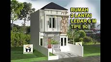 Best Denah Rumah 2 Lantai Lebar 6 M Minimalis
