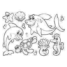 underwater animals coloring pages 17176 35 best free printable coloring pages